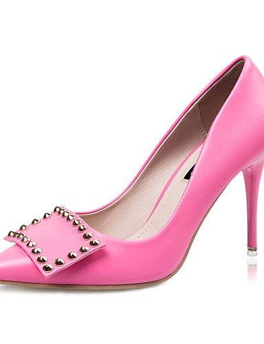 WSS 2016 Chaussures Femme-Décontracté-Noir / Vert / Rose / Gris-Talon Aiguille-Talons-Talons-Laine synthétique gray-us8 / eu39 / uk6 / cn39