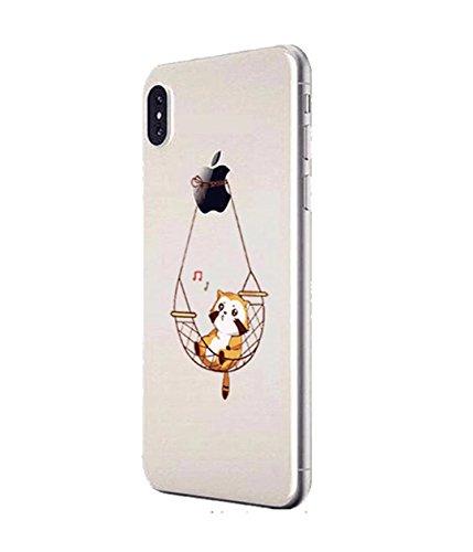Cover iPhone 6/6S Plus Trasparente Creativo morbido Silicone Luce e sottile TPU arte pittura Serie phone case DECHYI Design# 17