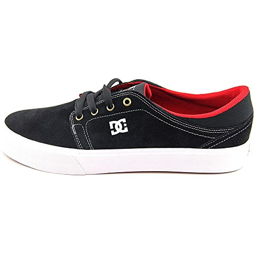 DC Shoes Trase S Daim Chaussure de Basket Black-White-True Red