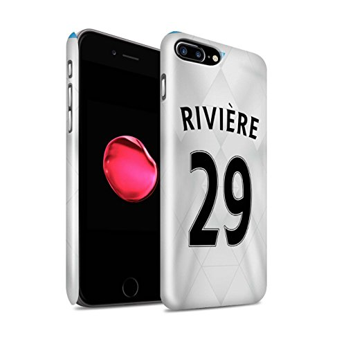 Offiziell Newcastle United FC Hülle / Glanz Snap-On Case für Apple iPhone 7 Plus / Townsend Muster / NUFC Trikot Away 15/16 Kollektion Rivière