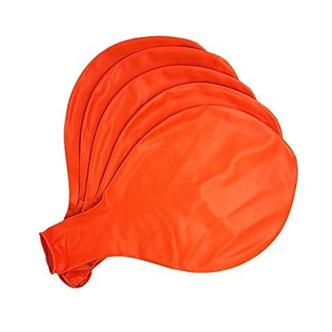 Paquet de 5 ballons - 36 pouces Ballons Orange - Ballon de latex géant pour fête Anniversaire Anniversaire mariage Décorations d'événements