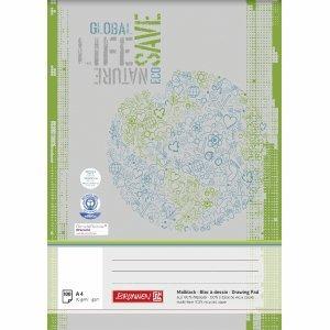 5 x Brunnen Malblock A4 70g/qm Recycling 100 Blatt