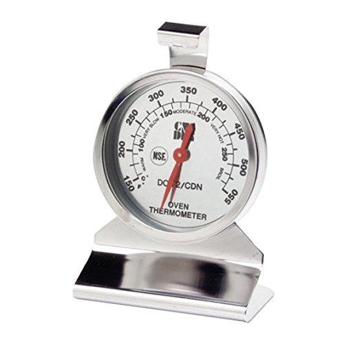 CDN Dot2 Proaccurate Backofenthermometer, das beste Ofen-Thermometer für Instant-In Food Kochen Lese. Edelstahl für Ofentemperaturen Überwachung. Große Dial. Nsf Certified. Silber -