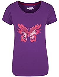 Mountain Warehouse Butterfly Womens Tee Easy Care & High Quality Print - Great For Travelling & Walking In Warmer Seasons