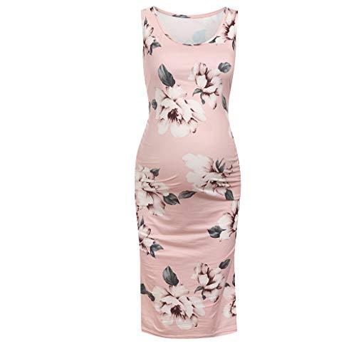 VWTTV Damen Ärmelloses Kleid Elegantes Umstandskleid Umstandsmode (Zivil-kleidung Damen)