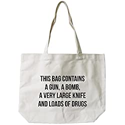 365 Printing WomenS Funny Dangerous Canvas Tote Bag Natural