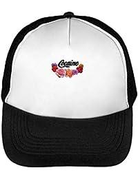 Cocaine Flowers Cool Gorras Hombre Snapback Beisbol Negro Blanco 179ca4fc577