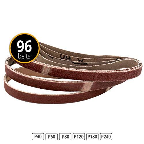 96 Stück Gewebe-Schleifbänder 13 x 457 Körnungen je 16x 40/60/80/120/180/240 für Black & Decker Powerfeile -