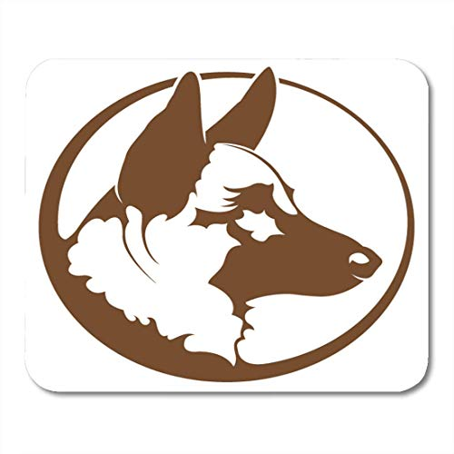 (Mouse Pads Brown Police White Dog German Shepherd Black Silhouette Green Guard Mouse Pad for notebooks,Desktop Computers mats 7.08 (L)x 8.66 (W) inch Office Supplies)