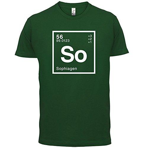 Sophia Periodensystem - Herren T-Shirt - 13 Farben Flaschengrün