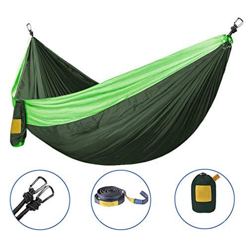Zmsdt Hamac Portable Double Personne Camping Survie Jardin Loisirs Voyage Meubles Parachute Hamacs (Couleur : J)