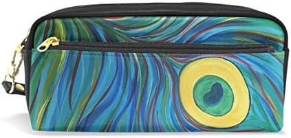 Eslifey Pochette portable en similicuir avec plumes de paon Vert B07MKFPWKY | Techniques Modernes