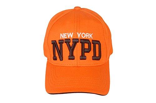 7a37ec5d4c63f Nypd New York Cap Orange Unisex Baseball Cap Adjustable Velcro Back Sobo  Sales