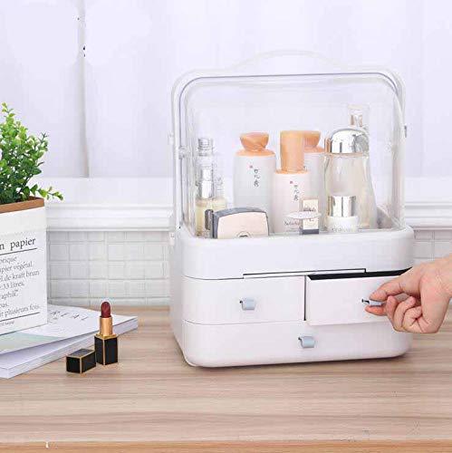 WESEASON Maquillage Organisateur Trousse de Rangement cosmétique Parfums Présentoir Présentoir Boîte à la Salle de Bain et au Salon étanche à la poussière étanche à l'eau sans Miroir