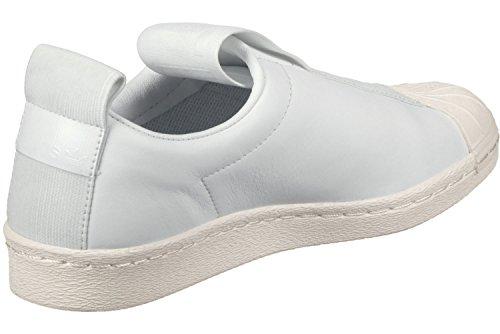 adidas Damen Superstar Bw3s Slipon W Low-Top, Weiß Weiß (Ftwr White/Ftwr White/Off White)