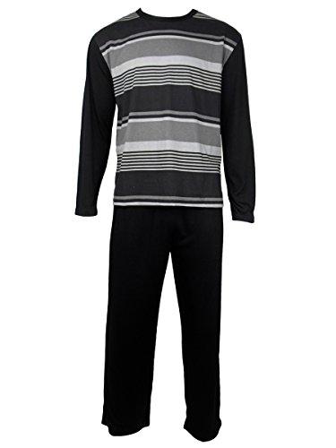 Herren Freizeit PJ Schlafanzüge Sets Nachtbekleidung PJ 2-teilig Pyjama Set Herren Größe M-XXL - Baumwolle (Pj Set Baumwolle)