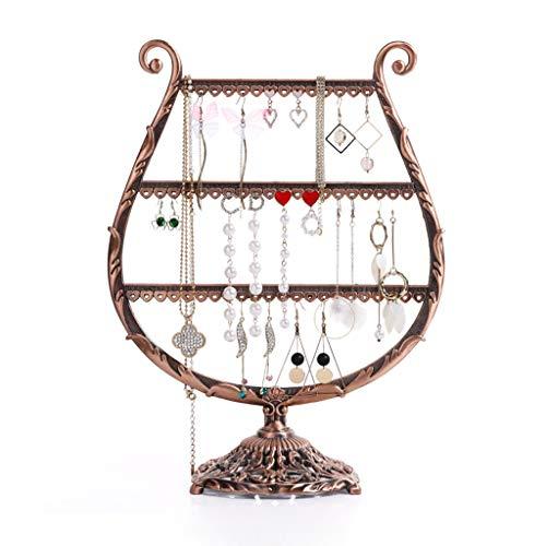 XFPINK Schmuck-Display Vintage Bronze Cup-förmigen Ohrring Halter/Ohrring Oraganiser/Ohrring Stand/Ohrring Display Box -