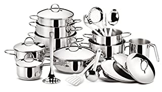 Lagostina Grancucina Batteria in Acciaio, 24 pezzi (B00C95N13W) | Amazon price tracker / tracking, Amazon price history charts, Amazon price watches, Amazon price drop alerts