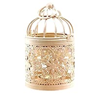 Ukallaite Antique Moroccan Hanging Lantern Hollow Candle Holder Stand Romantic Decorative size 3