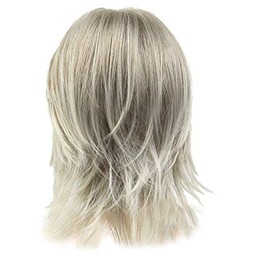 Mypace Blond Lang Glatt Für Männer Damen Rocker Men Fashion Short Hair Wig Perfect For Carnivals Party Cosplay Festival
