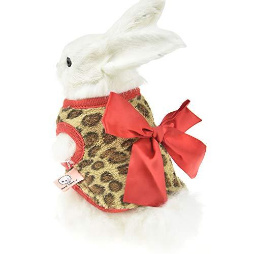 (FLAdorepet Winter-Kostüm für Kaninchen, mit Leopardenschleife, für Frettchen, Kostüm, Outfits für Kleine Tiere)