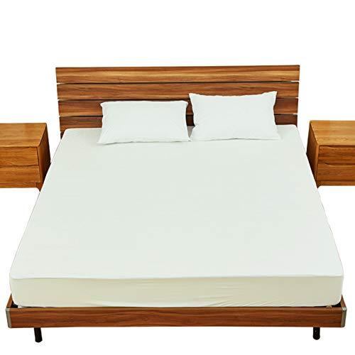 XHH-xiaoge Wasserdichte Bettdecke Bambusfaser Frottee Anti-Milbe Bettdecke Matratzenbezug Twin XL 99X203 + 36 cm -