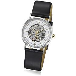 ETT Eco Tech Time Damen-Armbanduhr XS Motion Drive Analog Automatik Leder ELS-40238-21L