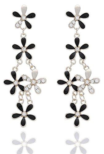 Tiaraz Fashion Jewellery Designer Hanging Leaves Fancy Party Wear Earrings for Girls...