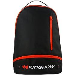 KingHow Deportes Mochila Equipo Bolsa Ligera en Baloncesto Fútbol (Negro)