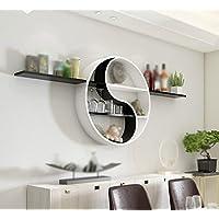Wand Rundes Regal / 2 Ebenen Trennwand / Modern Einfache Regalwand /  Wohnzimmer Wandregal / Wandmontiertes