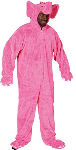 O7521-54-58-A pink Herren Elefant Elefanten Kostüm Overall -