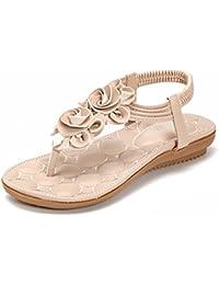 beige 37 EU Zicac Donna elastico alla caviglia posteriore cinghia sandali str