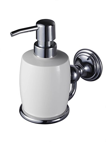 Allure 1126182 Zinc Alloy Haceka Soap Dispenser, Silver