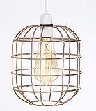 Abat-jour petit style rétro vintage, cage de fil, pour plafonnier existant ou chandelier, lampe sur pied ou lampe de table