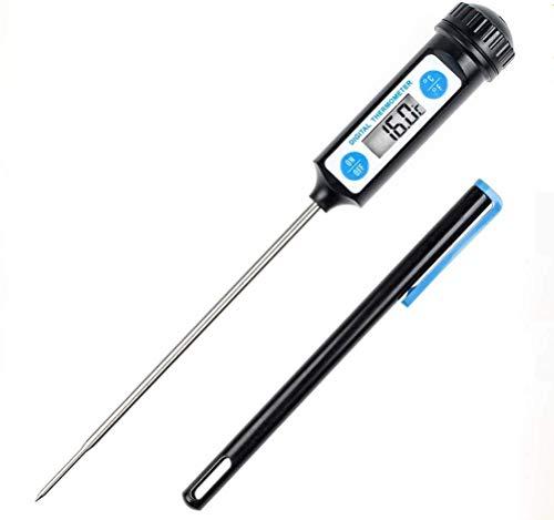 Hycy Elektronisches Digital-Nahrungsmittelthermometer Für Kuchen-Süßigkeit-Braten-BBQ-Nahrungsmittelfleisch-Temperatur-Haushalt-Thermometer Mit Langer Sonde -