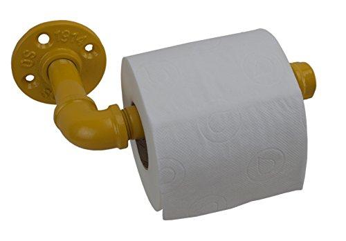 irwost–Das Original–Toilettenpapierhalter Toilettenpapier Farbe Gelb-Stil Deko Design industriellen Retro.