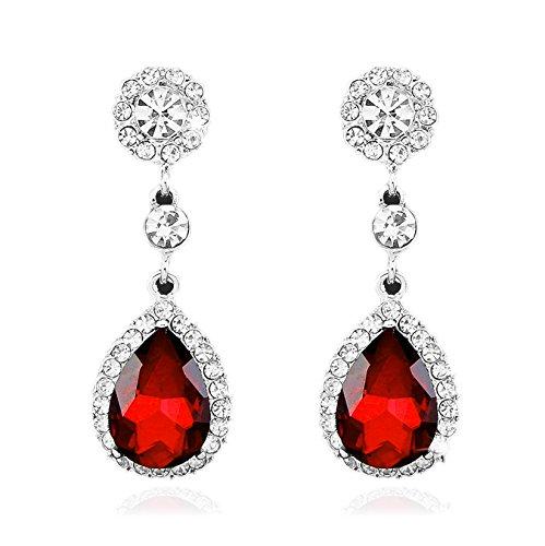 Red Drop Earrings Amazon Co Uk