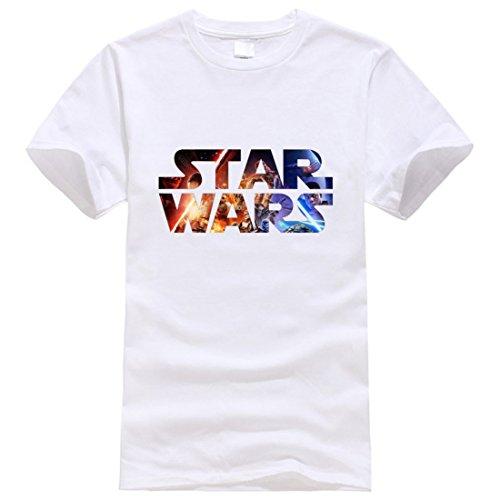 Men's Star Wars Printed Funny Hipster O Neck Tee Shirt whitestarwars