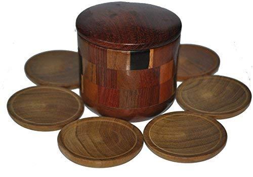 Set aus 6 Wooden Boxed Nicaragua handgefertigten Untersetzer Mats aus Nicaragua Tee-set Boxed