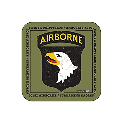 101st AIRBORNE US MILITARY Coaster - American Army Themed Design by Coasteroo