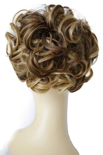 PRETTYSHOP Dutt Haarteil Zopf Haarknoten Hepburn-Dutt Haargummi Hochsteckfrisuren braun blond mix #12H27 HK116