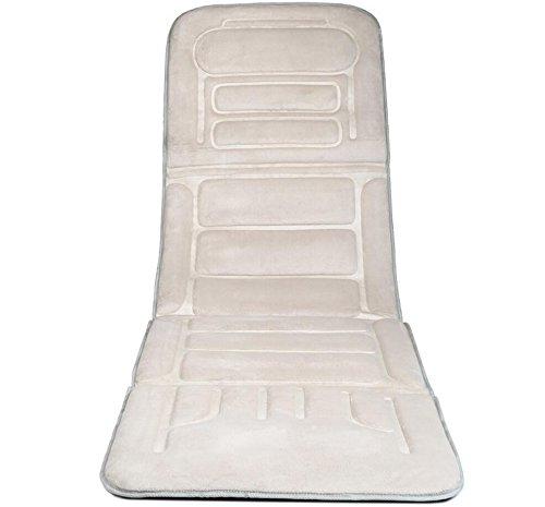 10 Motor-massage-matte (AMYMGLL Vibrationsmassage Pad Körper Massage Pad mit Wärme (Automobil, Dual-Use, 10 Motor) heiß vibrierende dunkelgrau beige , beige)