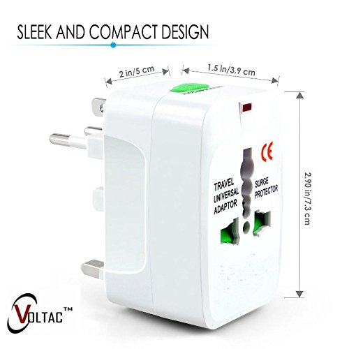 VOLTAC` ™ ALL IN ONE WORLD TRAVEL ADAPTER for AU/EU/UK/US