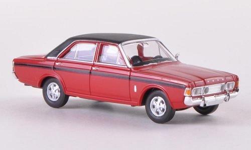 Preisvergleich Produktbild Ford 20m RS (P7b),  rot / matt-schwarz,  Modellauto,  Fertigmodell,  Brekina 1:87