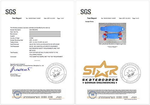 STAR-SKATEBOARDS® Vintage Cruiser Board ★ 22er Diamond Class Edition ★ Teuflisch Schwarz & Feurig Rot -