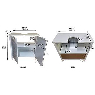 41r0Y5yUspL. SS324  - TENDANCE Mueble Encima del Lavabo o Fregadero - 2 Puertas y 1 estantería - Color Blanco y Gris