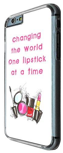 763 - Make Up Lipstick Quote Changing the World Design iphone 6 6S 4.7'' Coque Fashion Trend Case Coque Protection Cover plastique et métal
