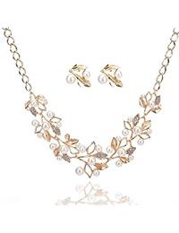 Shining Diva Fashion Fancy Party Wear Pearl Necklace Set / Jewellery Set With Earrings For Women & Girls