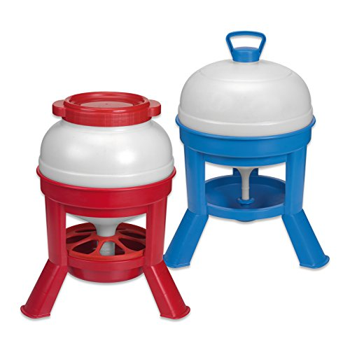 Wolseley 20 Litre Orpington Water Drinker & 20kg Feeder Set Premium Robust Plastic Ideal For Poultry Fowl & Game Birds & Tigerbox® Antibacterial Pen.