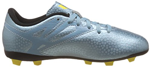 adidas Messi15.4 FG/AG, Unisex-Kinder Fußballschuhe Blau (Matt Ice Met.F12/Bright Yellow/Core Black)